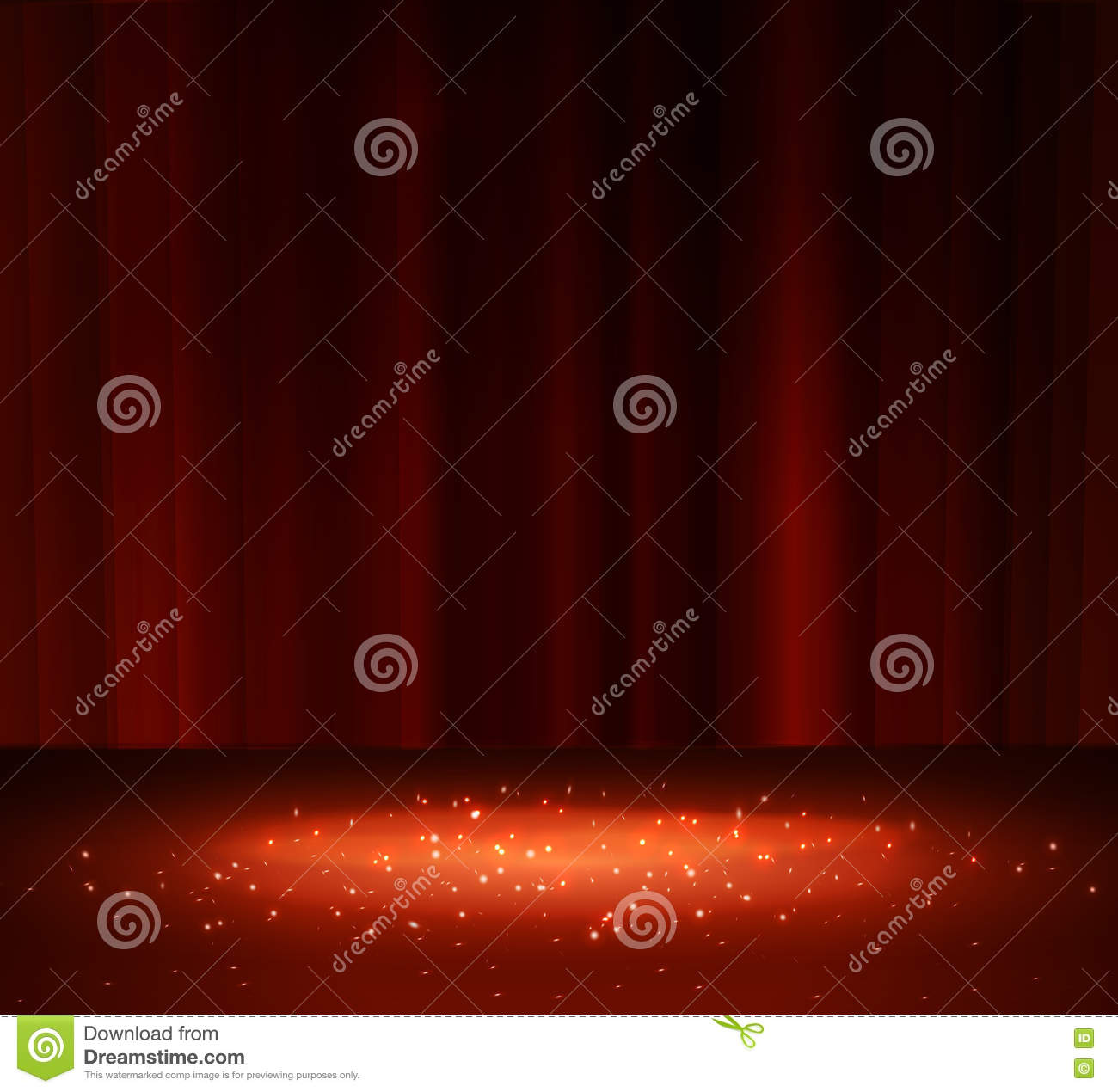 Red curtain spotlight - Red Curtain With A Spotlight