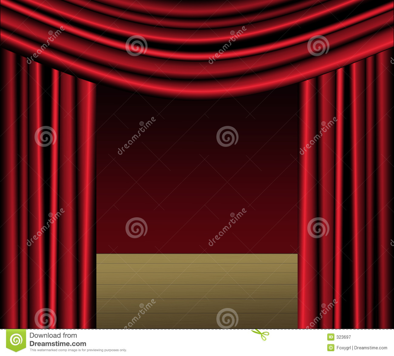 Red Curtain Stage Stock Illustration Image Of Drapery