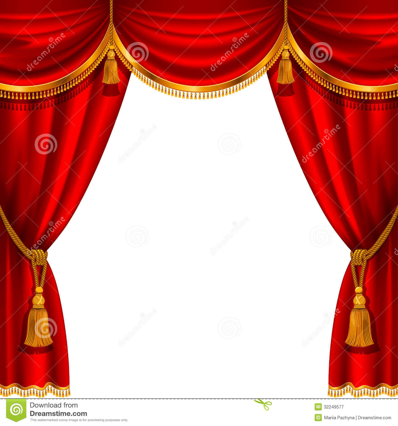 Red Curtain Stock Vector Image Of Exhibition Burlesque