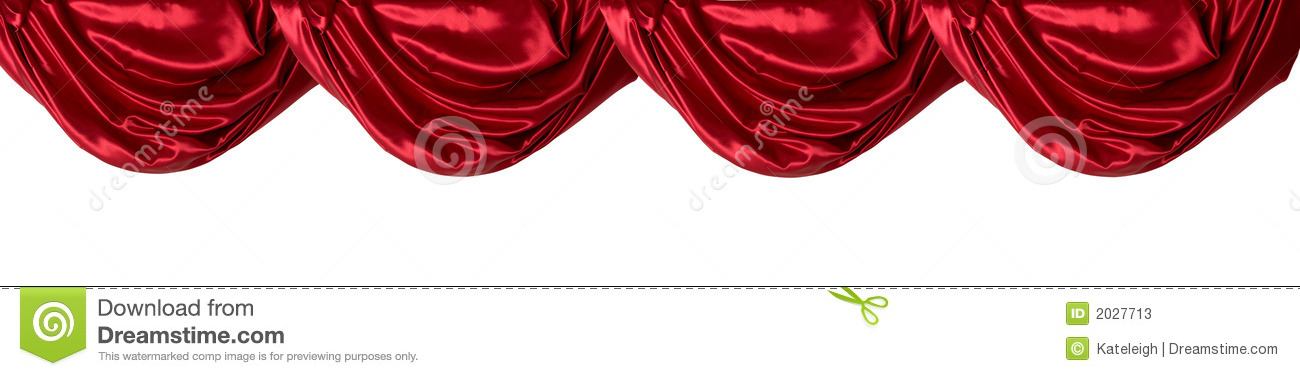 ordinary Red Curtains Valance Part - 5: Red Curtain Valance, Isolated