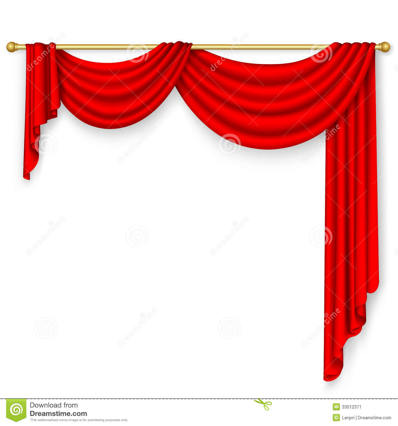Red curtain stock vector. Illustration of curtain, rope - 33012371 for Red Curtain Background Powerpoint  75sfw
