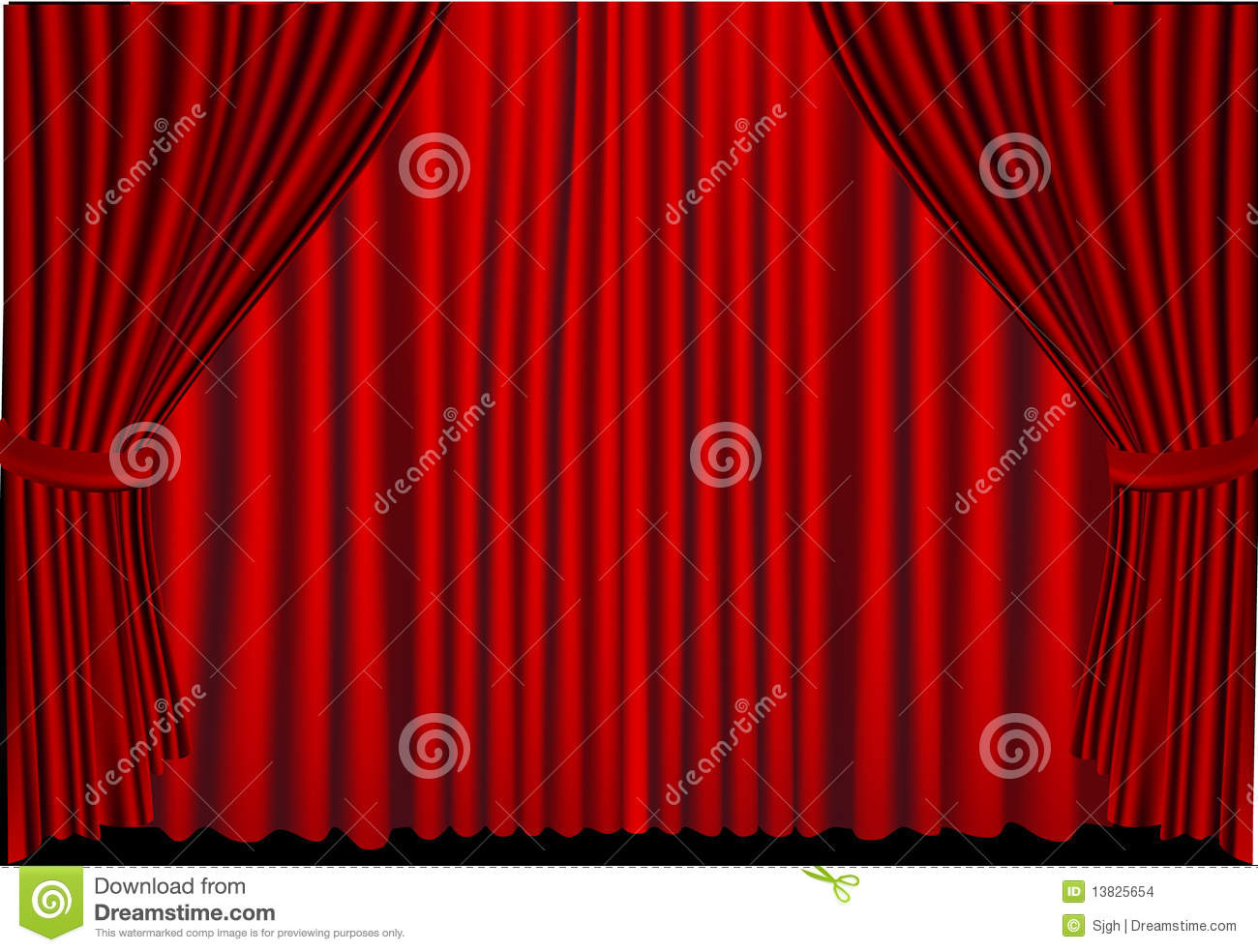 Closed theater curtains - Red Curtains Closed Stock Images