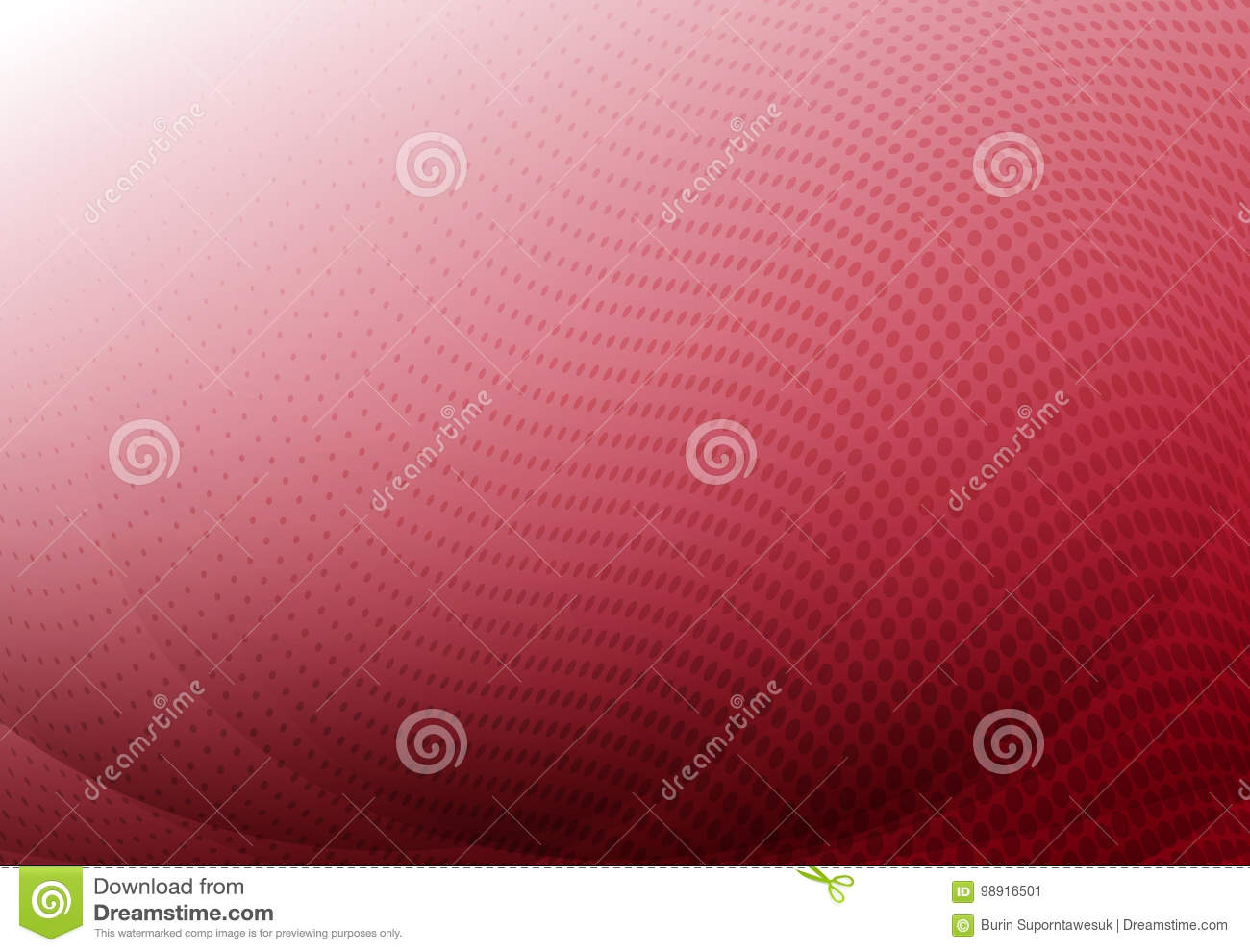 Red curve abstract background with wave halftone copy space. Vector