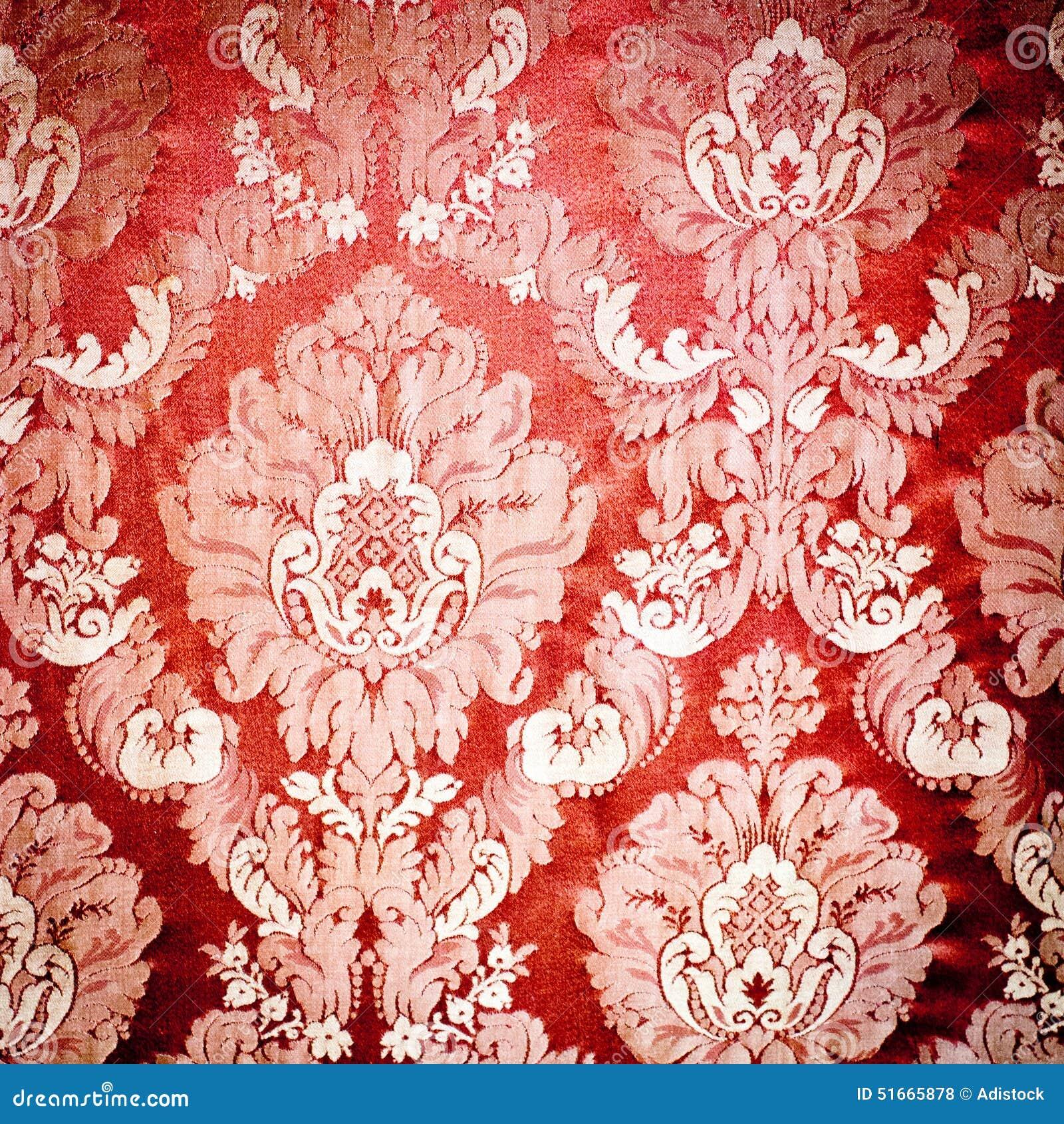 Red Damask Tapestry Stock Illustration Image 51665878