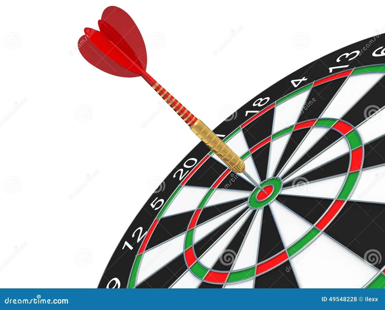 red darts arrow in bullseye stock illustration illustration of
