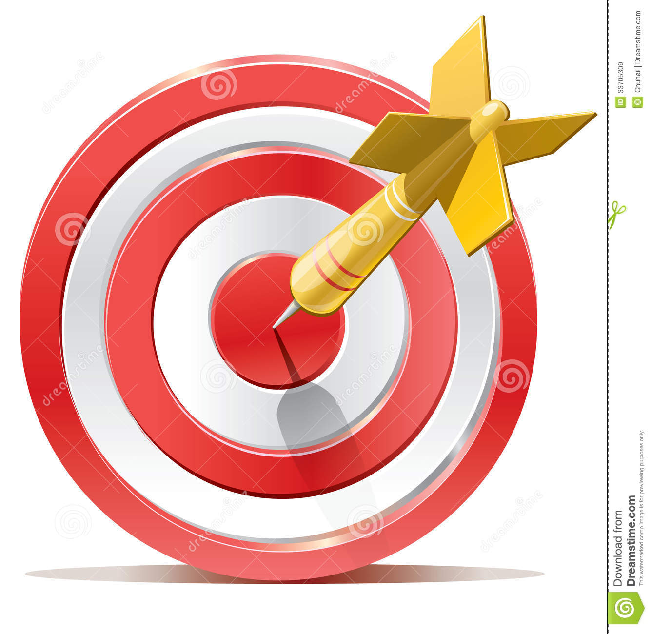 Red Darts Target Aim Royalty Free Stock Images - Image: 33705309