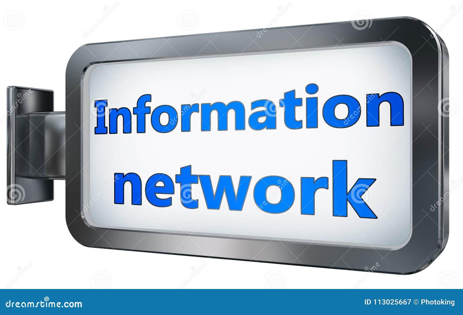 Red de información en fondo de la cartelera