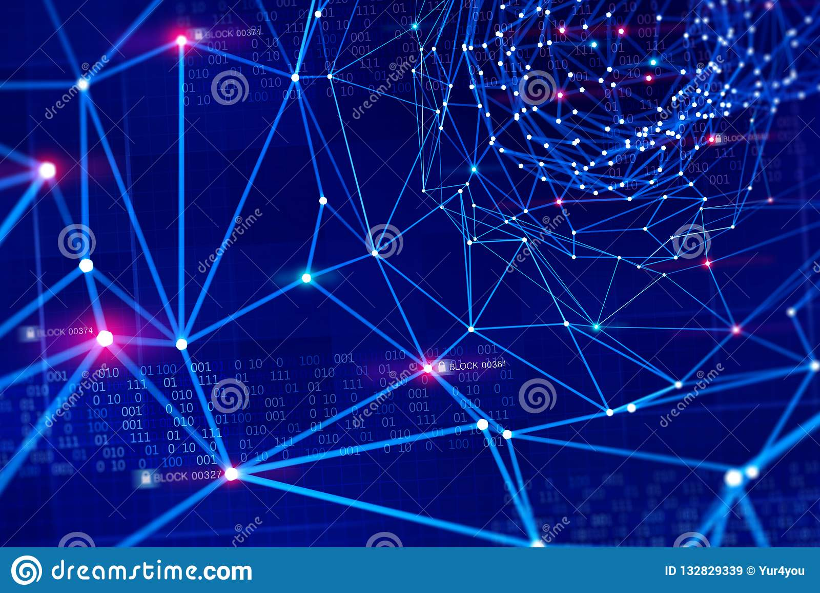 Red de información global Protección y almacenamiento de datos digitales usando la tecnología del blockchain Inteligencia artific