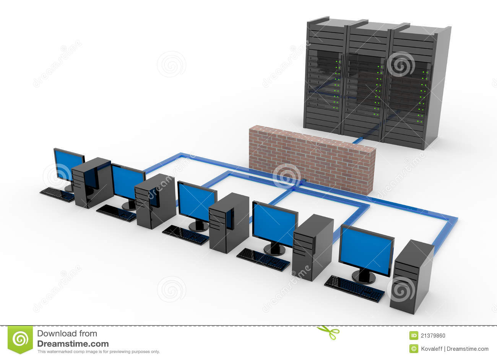Red de ordenadores con el servidor y el cortafuego stock - Fotos de ordenadores ...