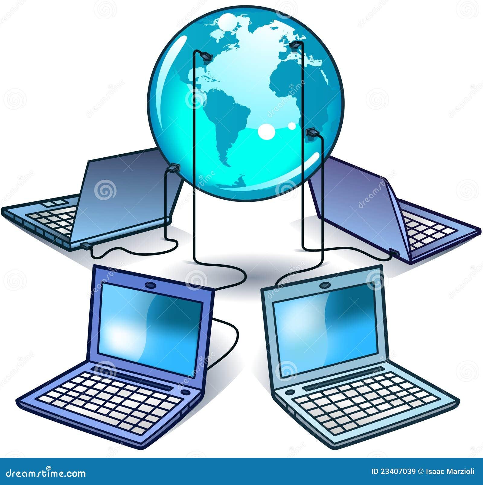 Red de ordenadores global ilustraci n del vector imagen - Fotos de ordenadores ...