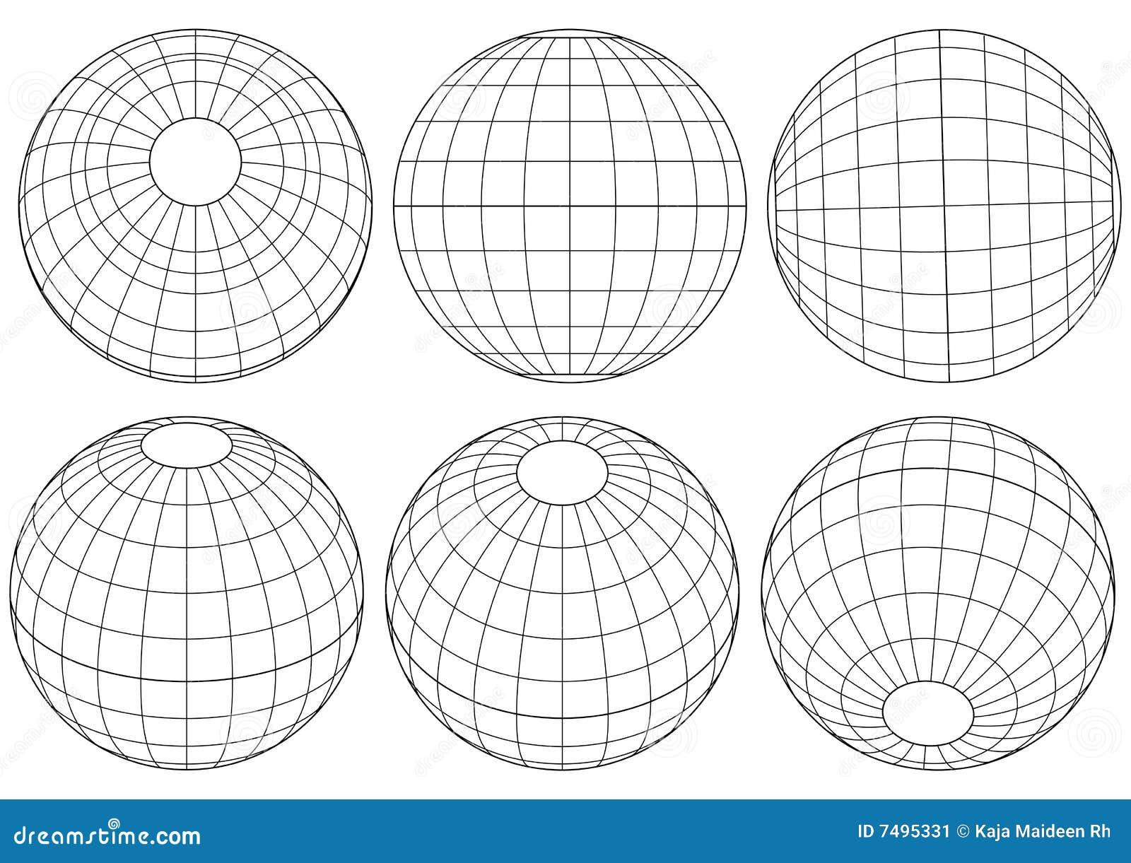 Red del globo - vector