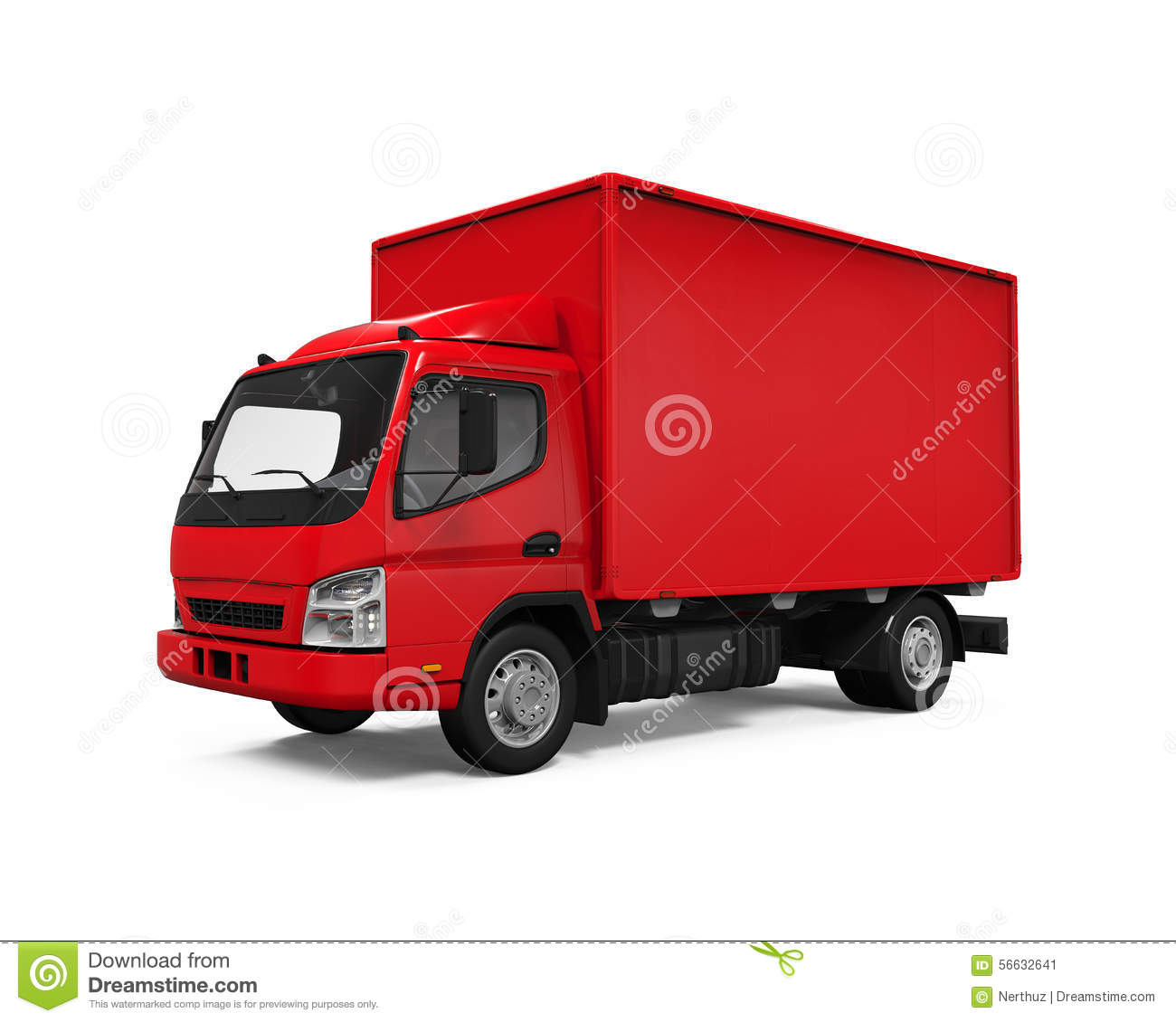 Red Delivery Van Stock Illustration - Image: 56632641