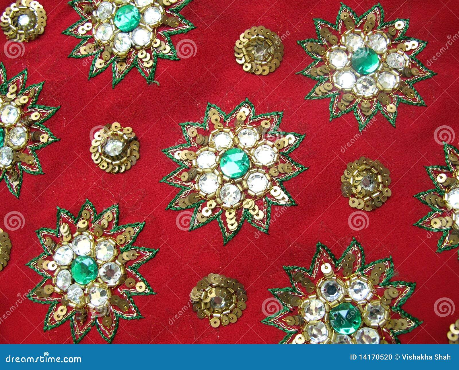 Red designer fabric