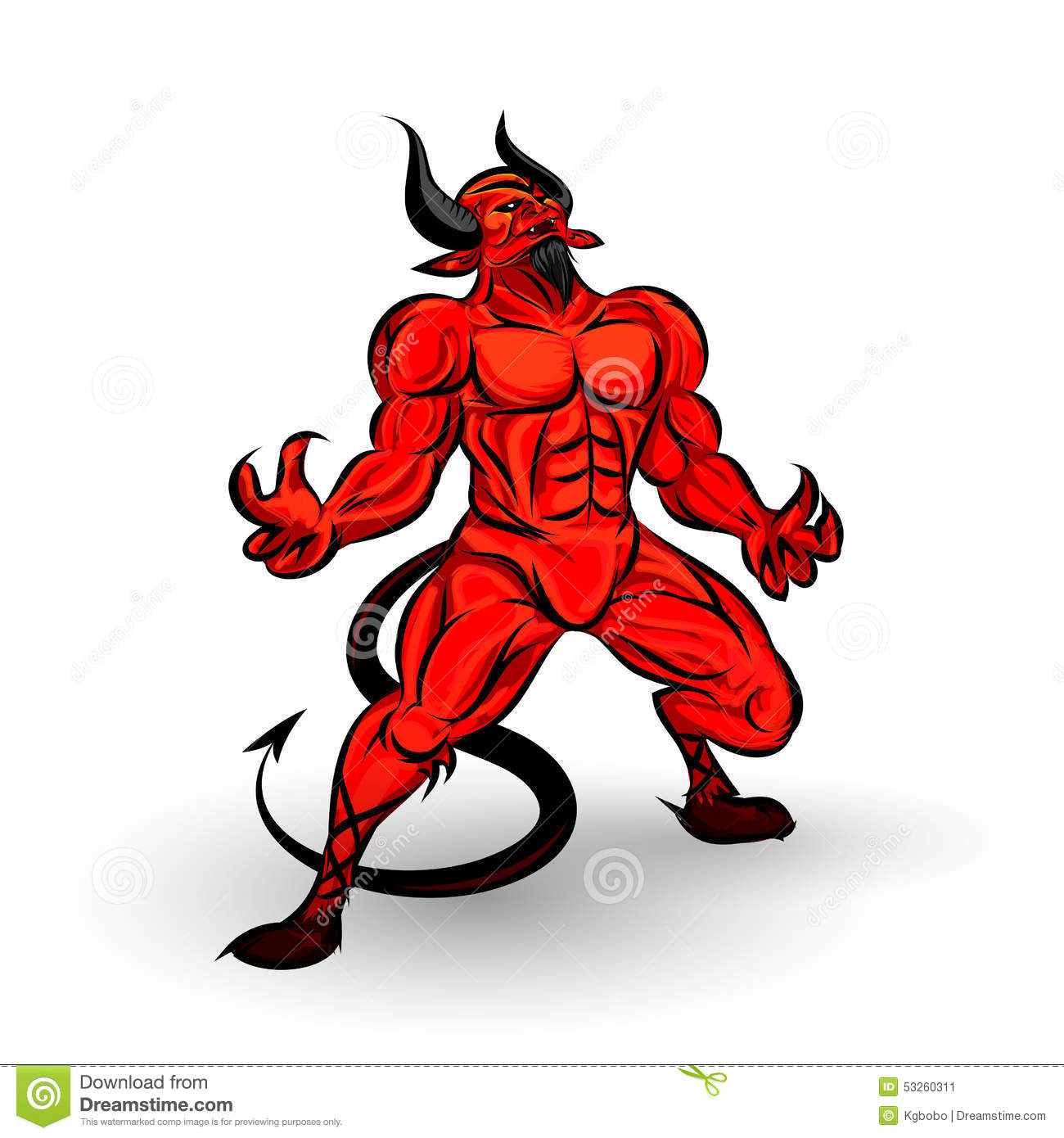 red devil character stock vector image 53260311 devil clipart images devil clipart black and white