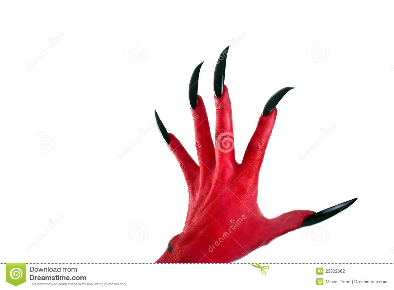 Red Devil´s Hand Stock Photography - Image: 23802662