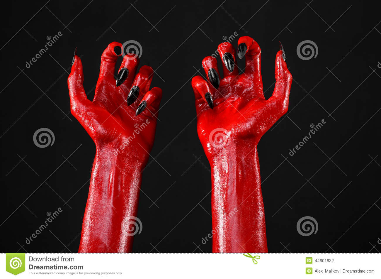 Red devils hands with black nails red hands of satan halloween royalty free stock photo biocorpaavc Gallery