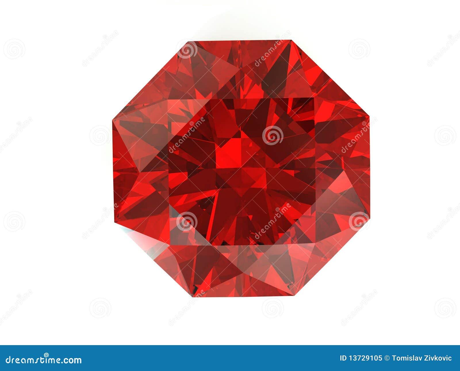 Red Diamond On White Background Stock Illustration