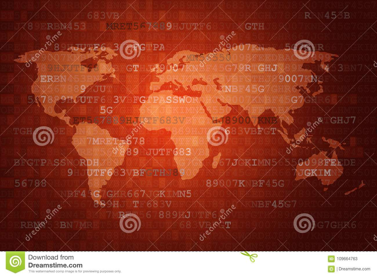Red digital abstract technology background with world map stock red digital abstract technology background with world map royalty free illustration gumiabroncs Images