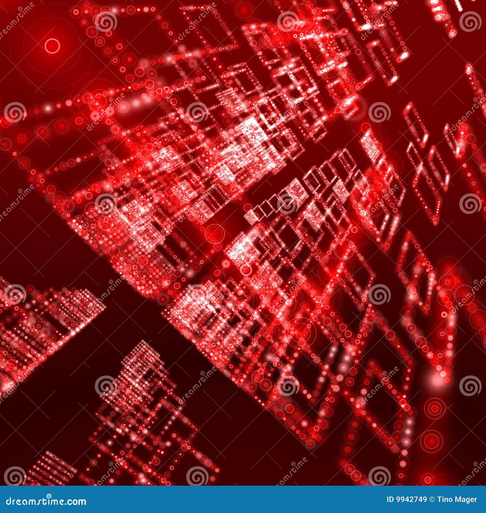Red Digital Background Designs