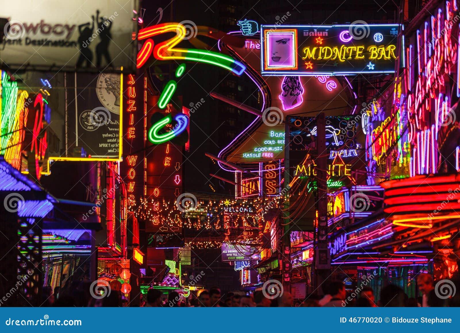 Red district lightings in Bangkok