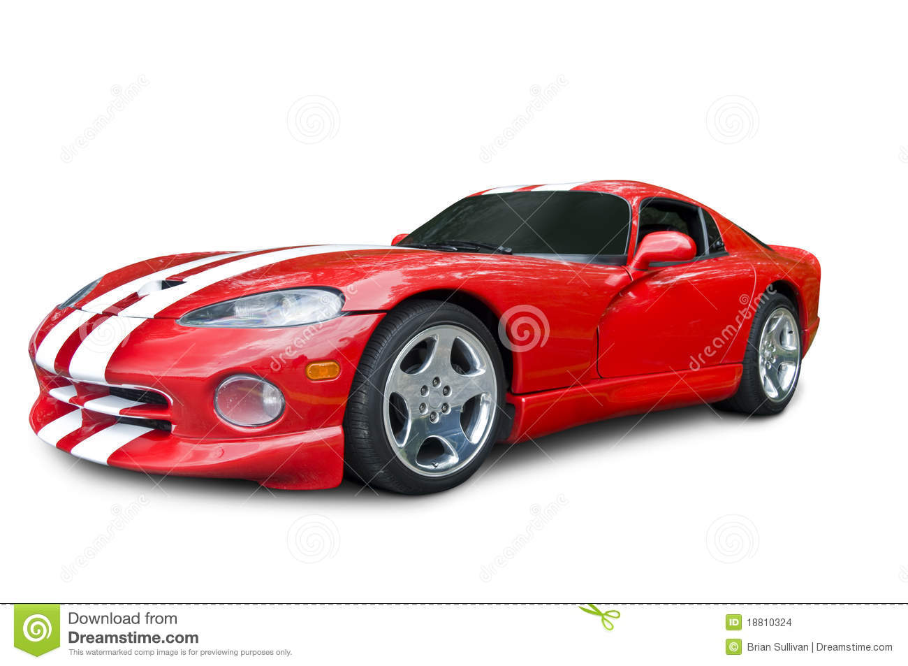 Red Dodge Viper Sports Car Stock Images - Image: 18810324