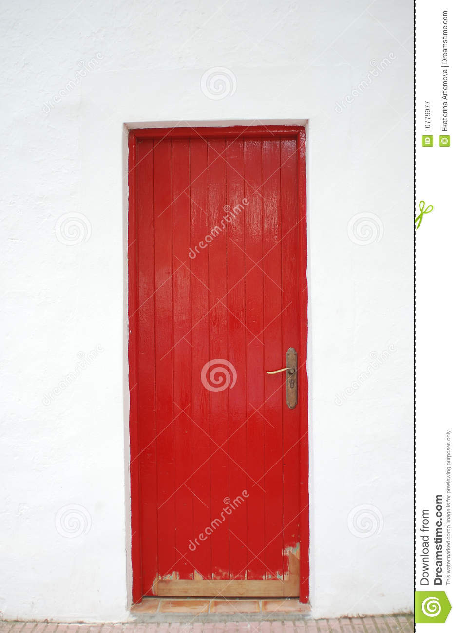 Red Door Royalty Free Stock Photography Image 10779977