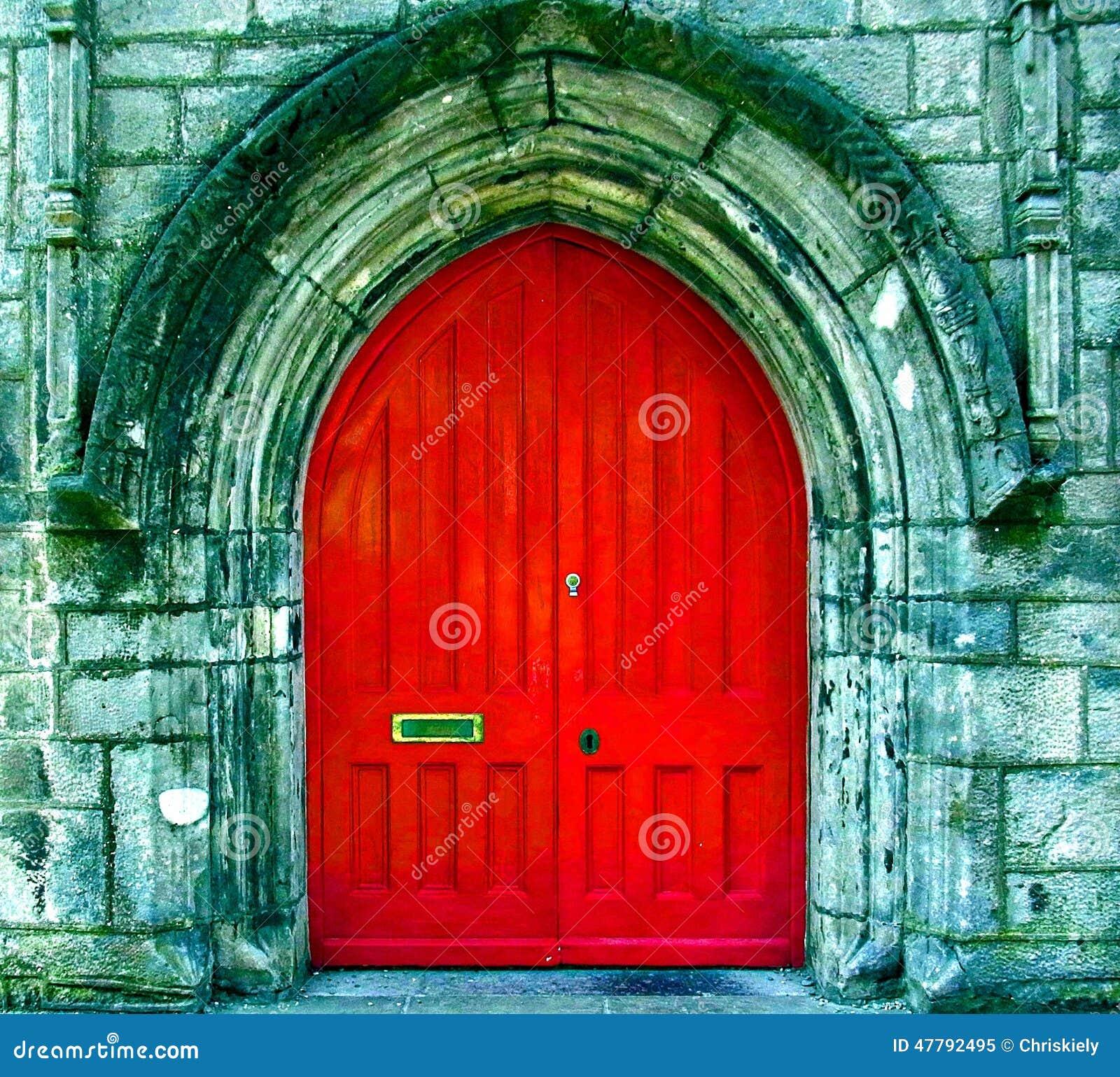 The Red Door Stock Image Image Of English Holy Door 47792495