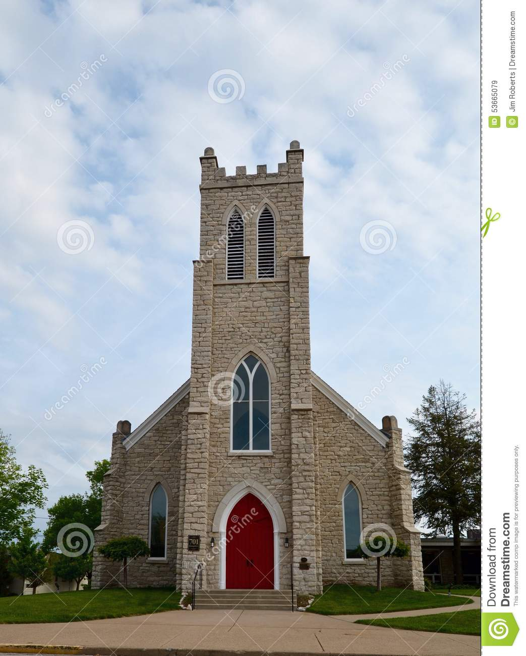 Red Door Church Editorial Stock Image Image Of Gothic 53665079