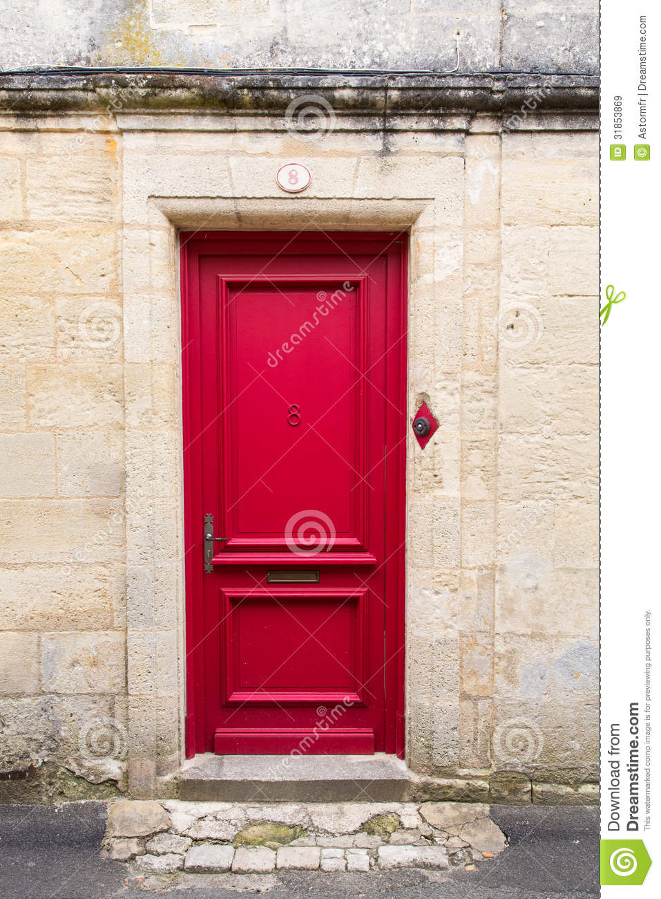 Red Doors Stone : Red door royalty free stock images image