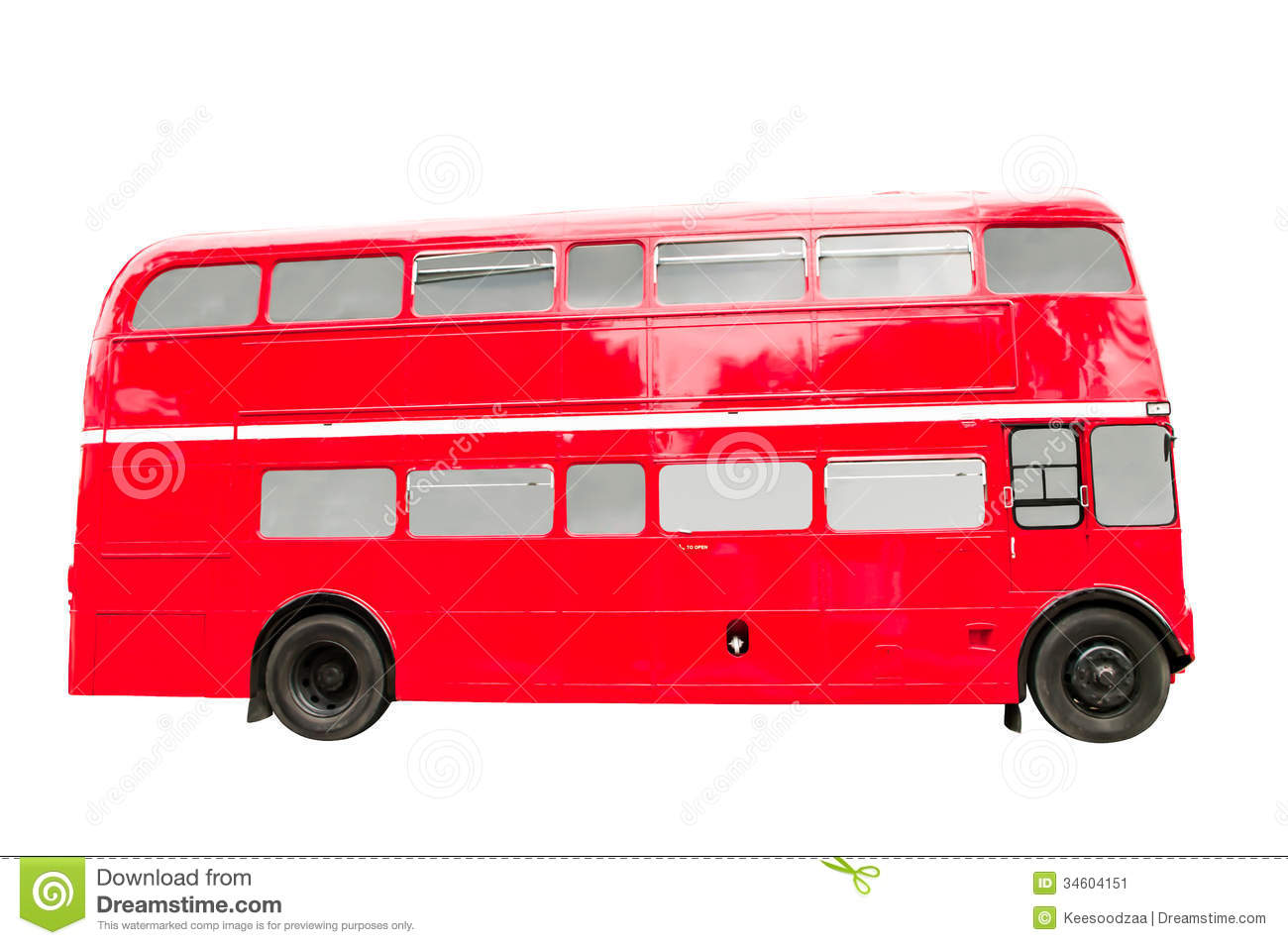 red double decker bus stock image  image of decker