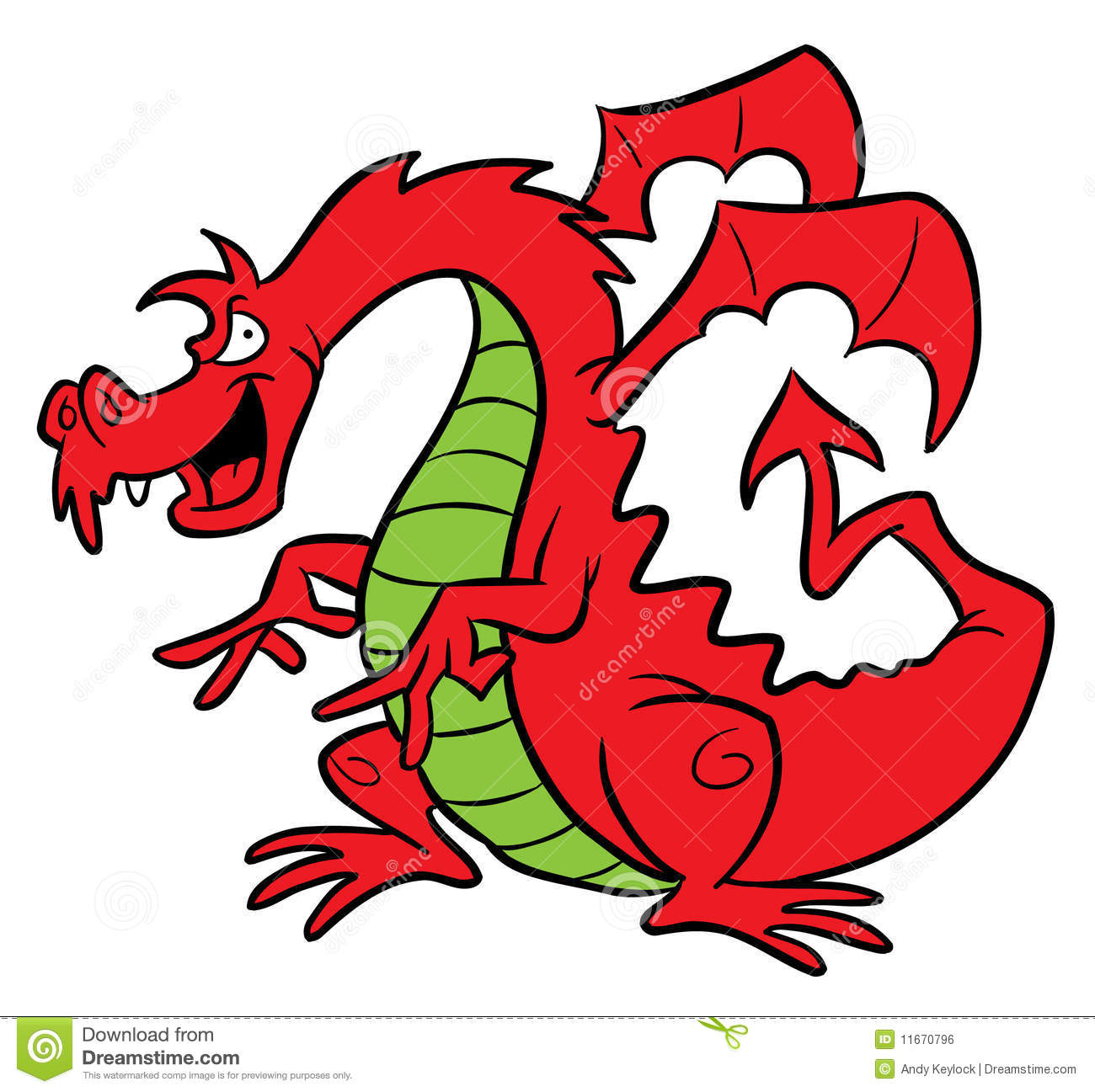 Red Dragon Cartoon Illustration Royalty Free Stock Image - Image ...