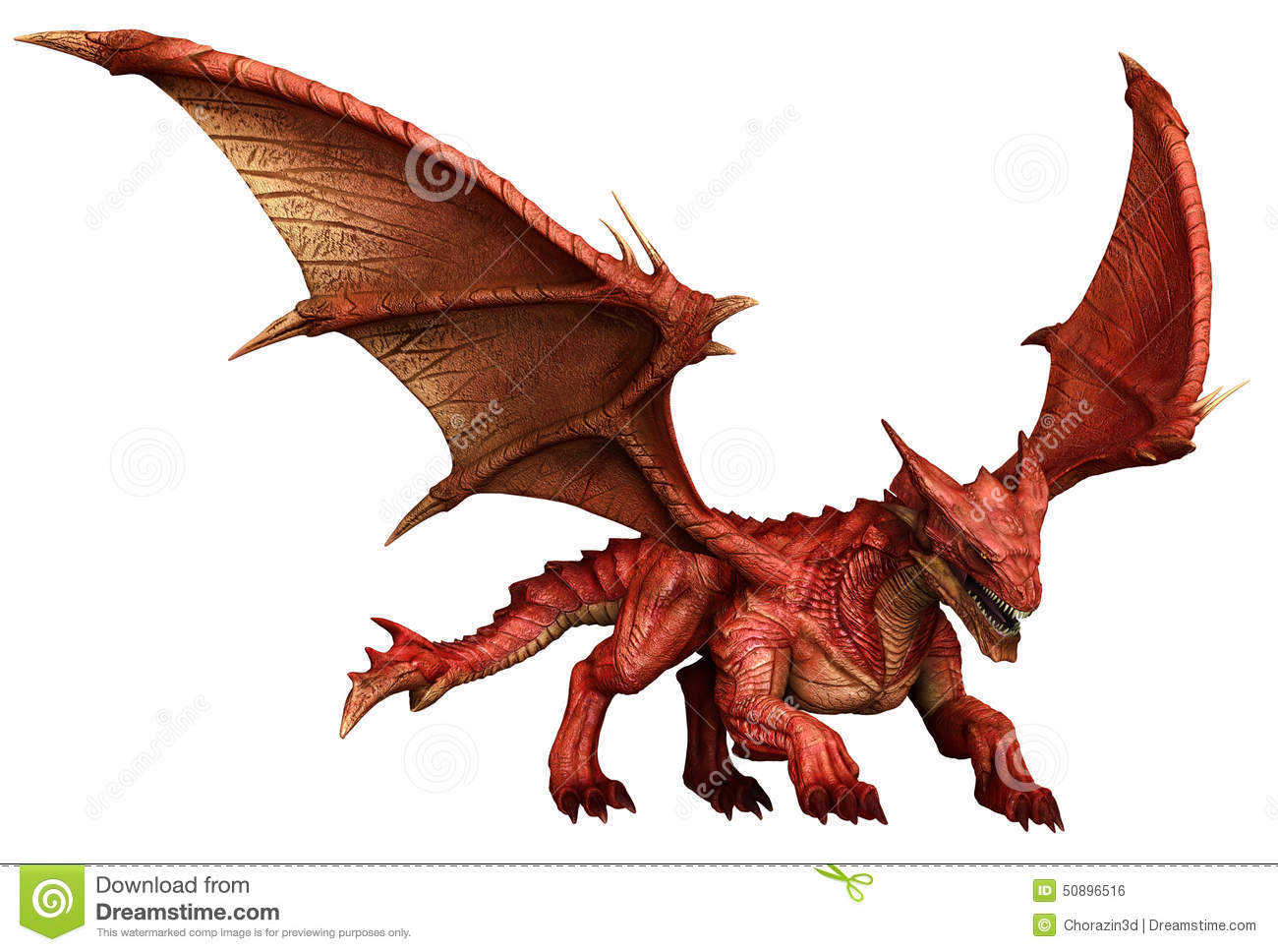 Red Dragon Stock Illustration - Image: 50896516