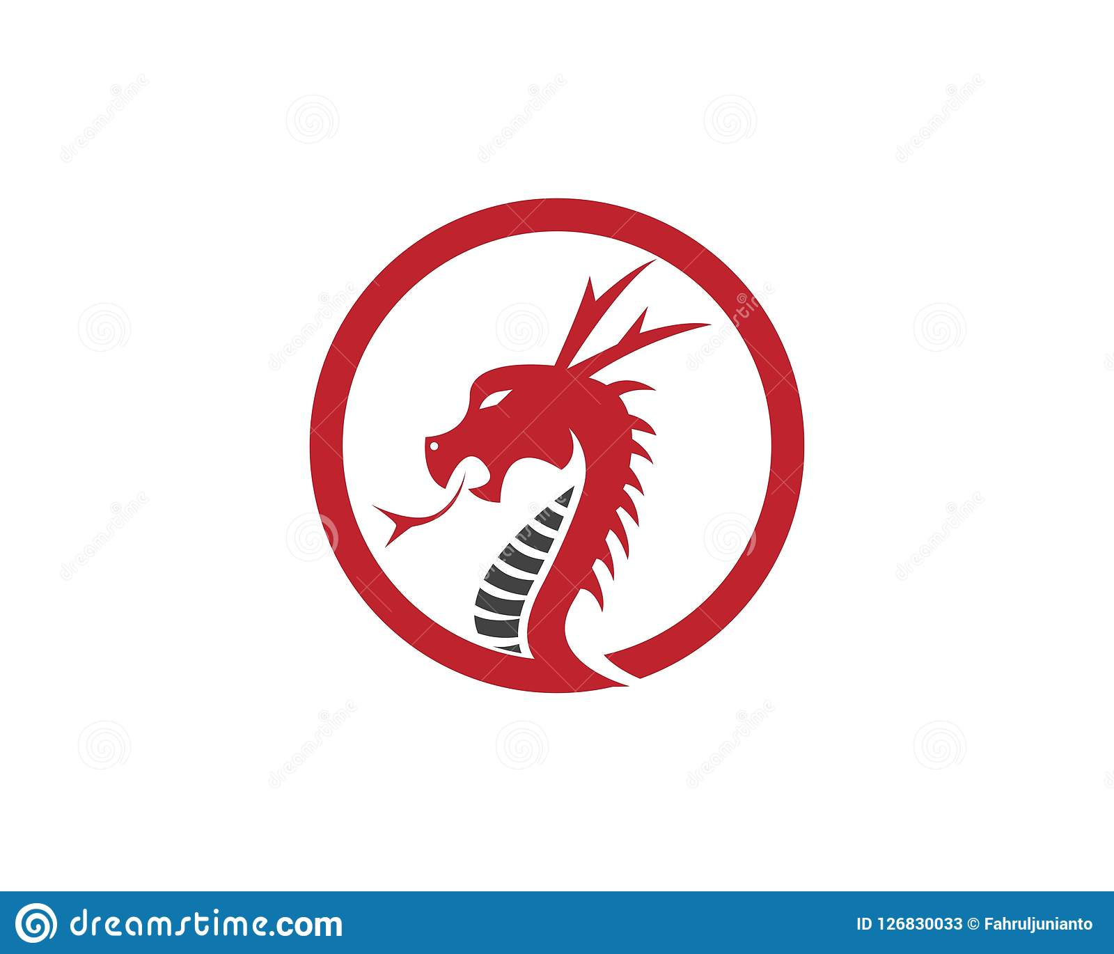 red dragon head logo design template stock vector illustration of
