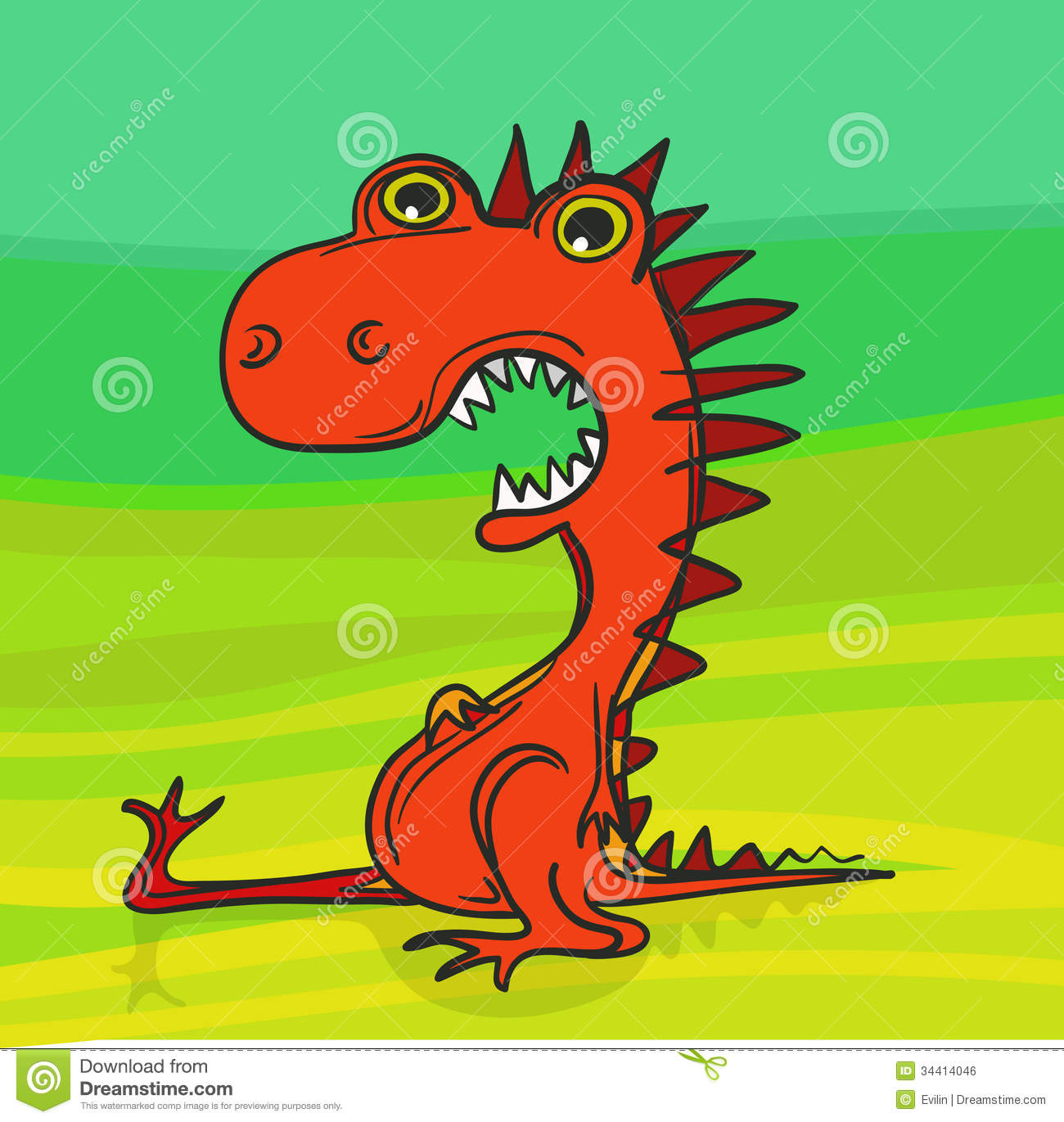 Red Dragon Royalty Free Stock Image Image 34414046