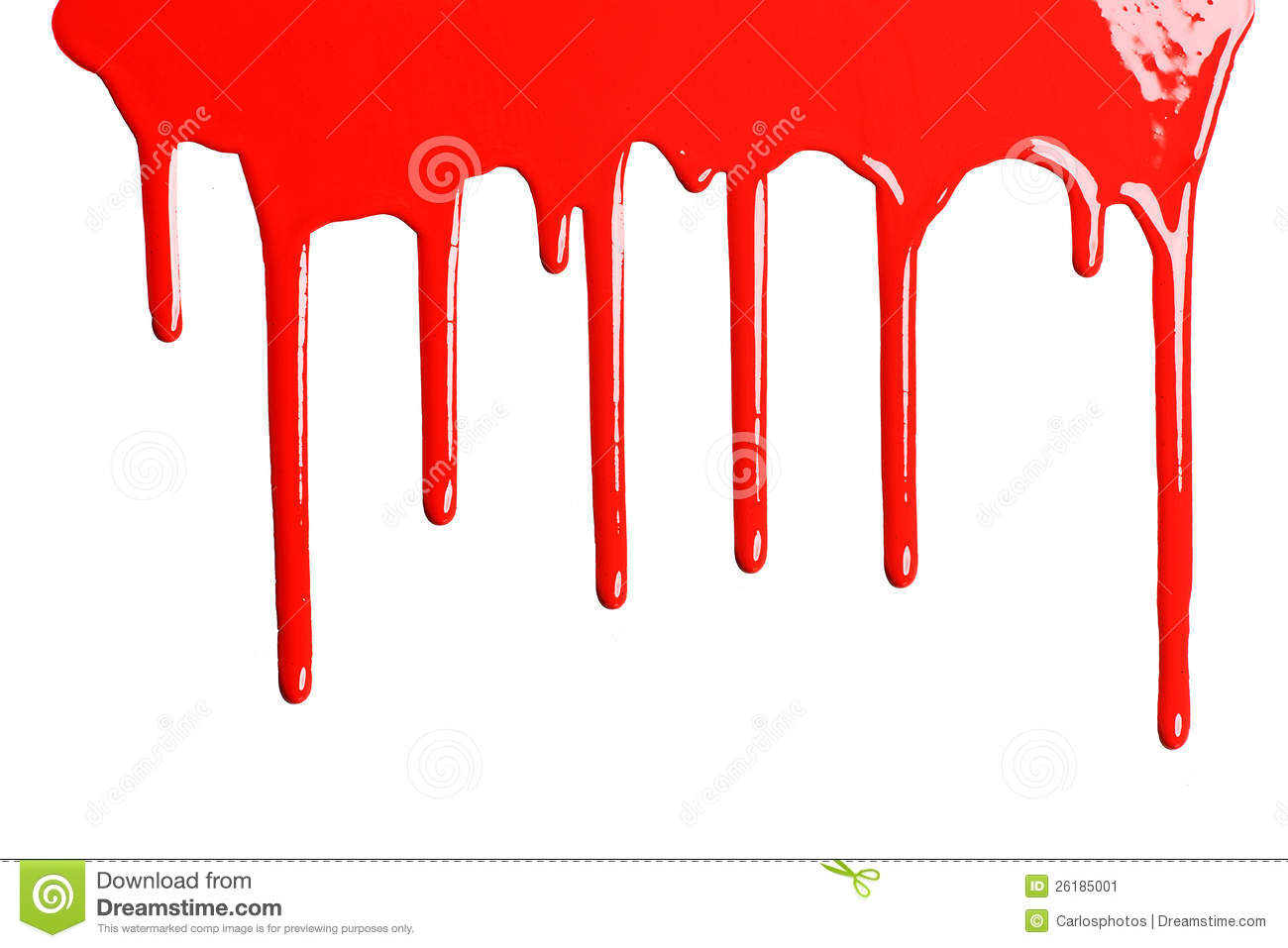 Red Dripping Paint Stock Image Image 26185001