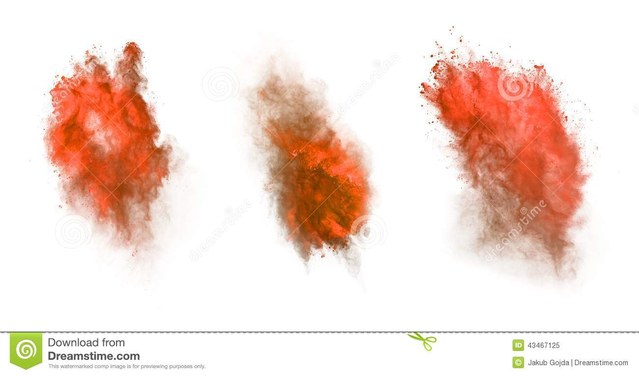 Red Dust Explos... Explosion White Background