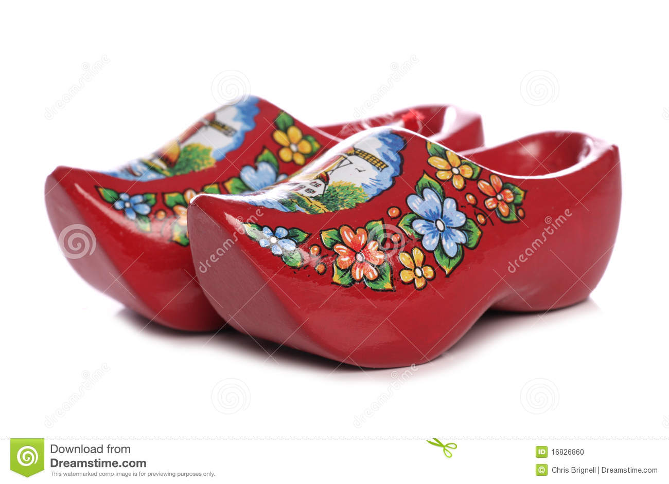 Red Dutch Clogs Stock Photo - Image: 16826860
