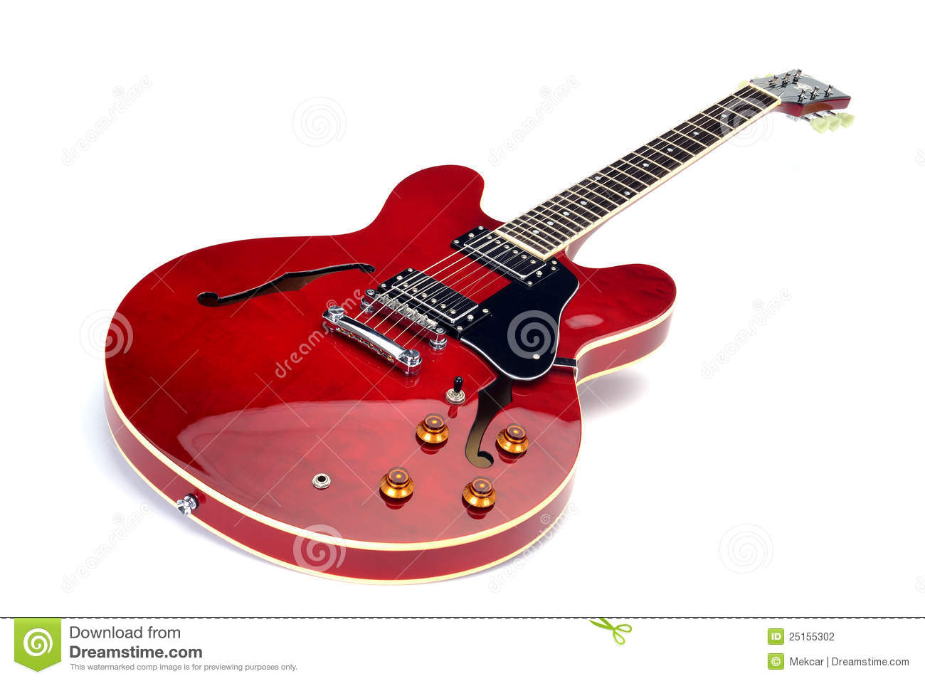 Red Electric Guitar Stock Photo Image Of Side Angle