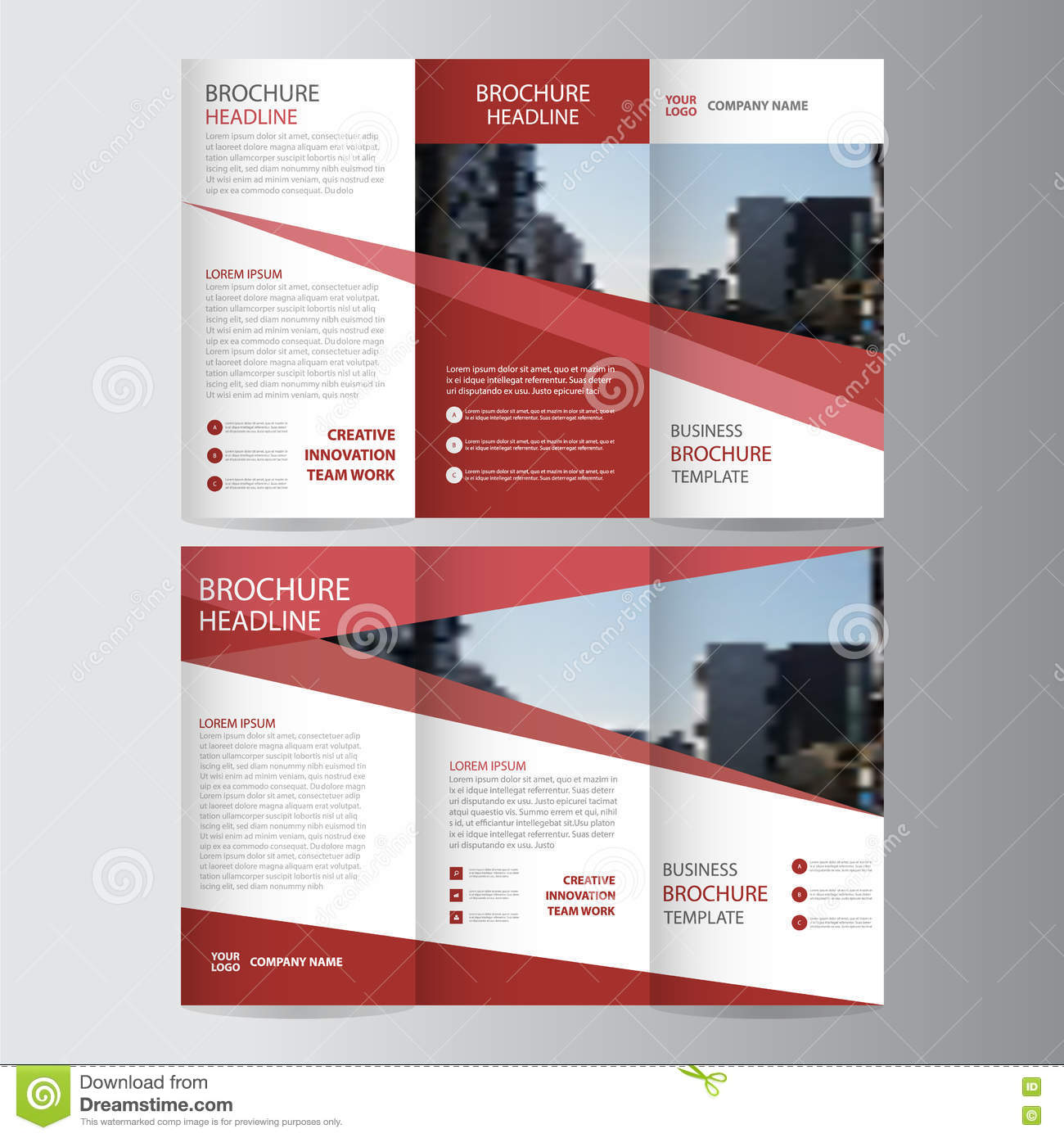 Red elegance business trifold business leaflet brochure flyer red elegance business trifold business leaflet brochure flyer template vector minimal accmission Choice Image