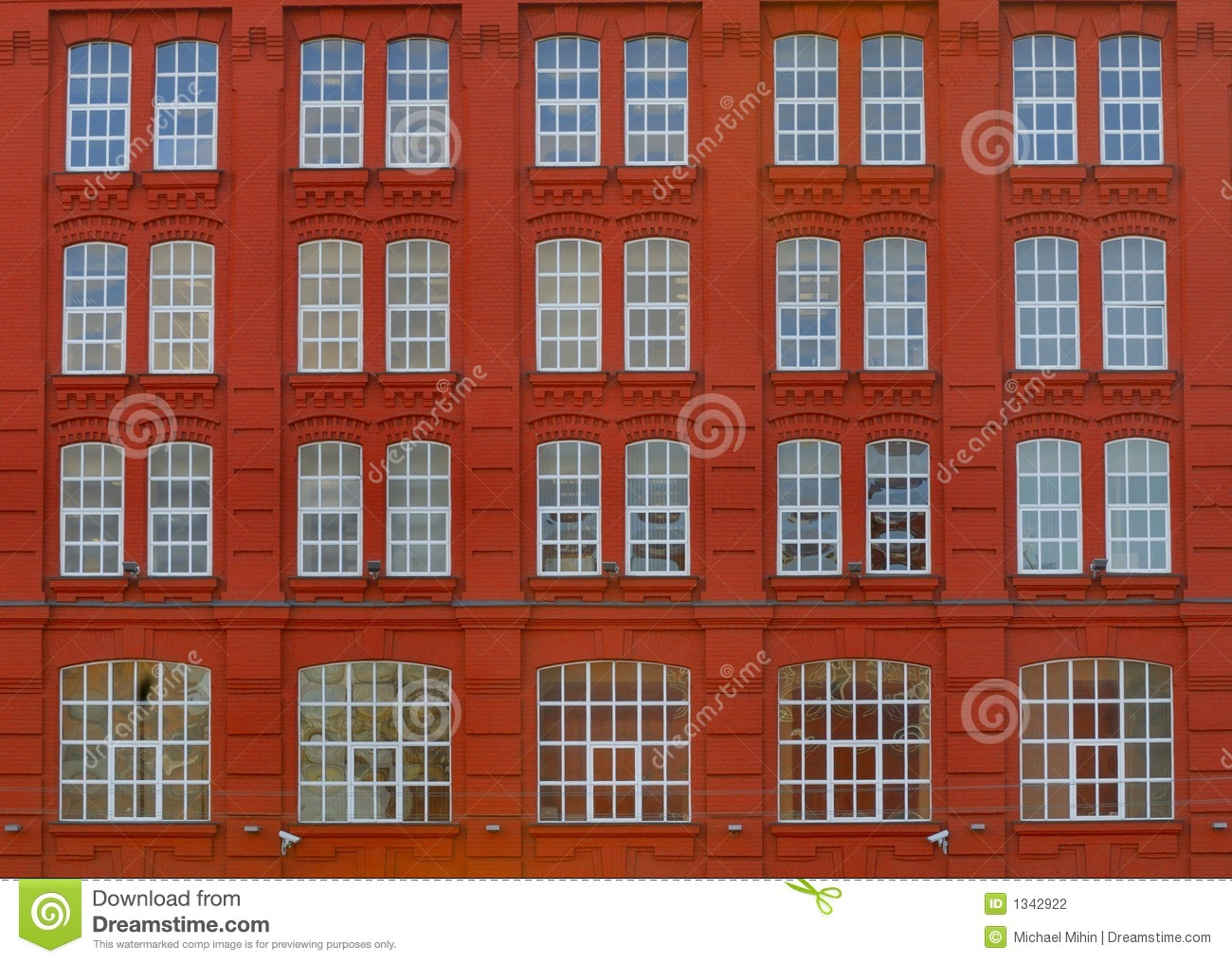 Front Elevation Red Bricks : Red elevation of building stock photography image