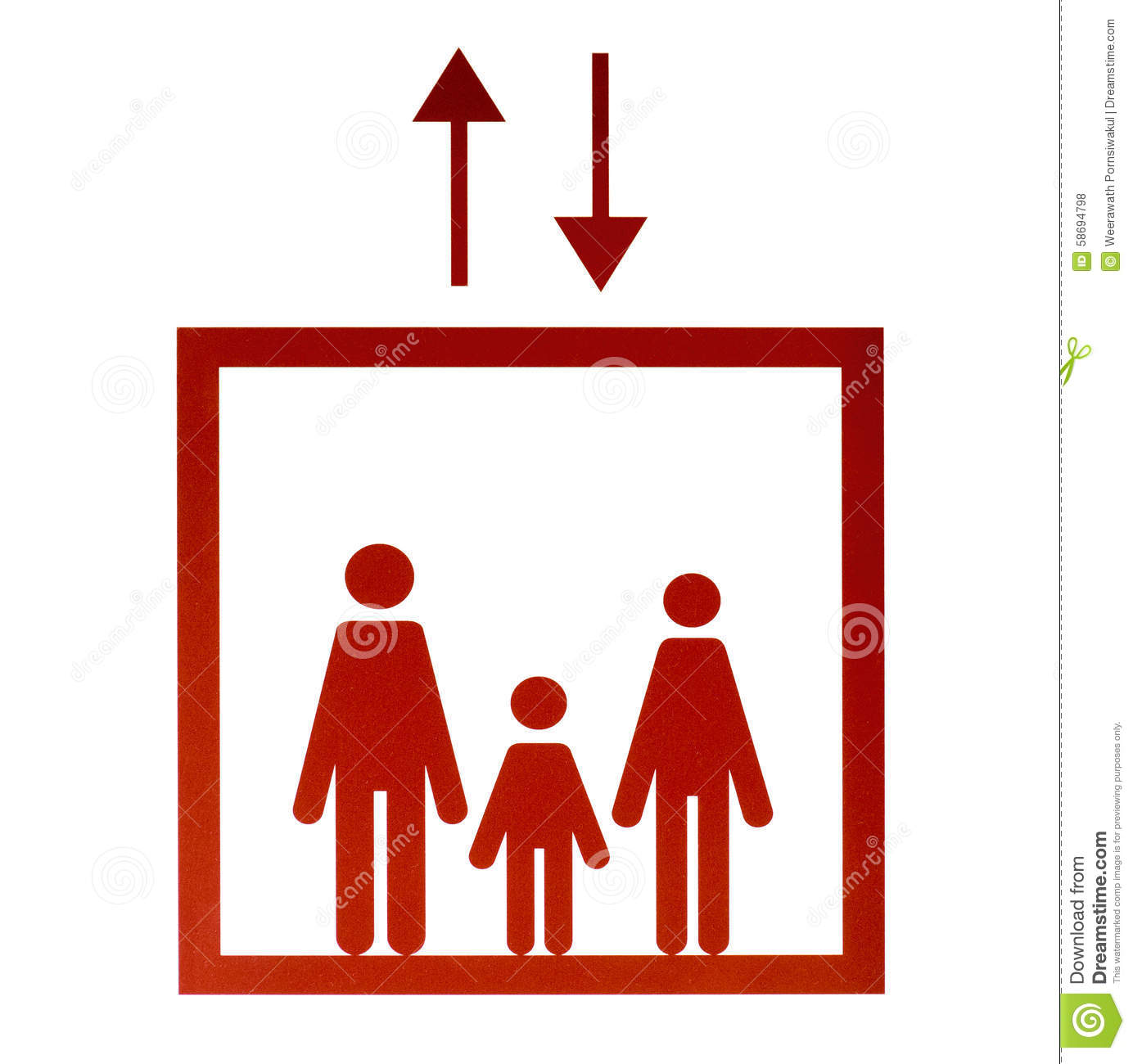 people in elevator clipart. royalty-free stock photo people in elevator clipart