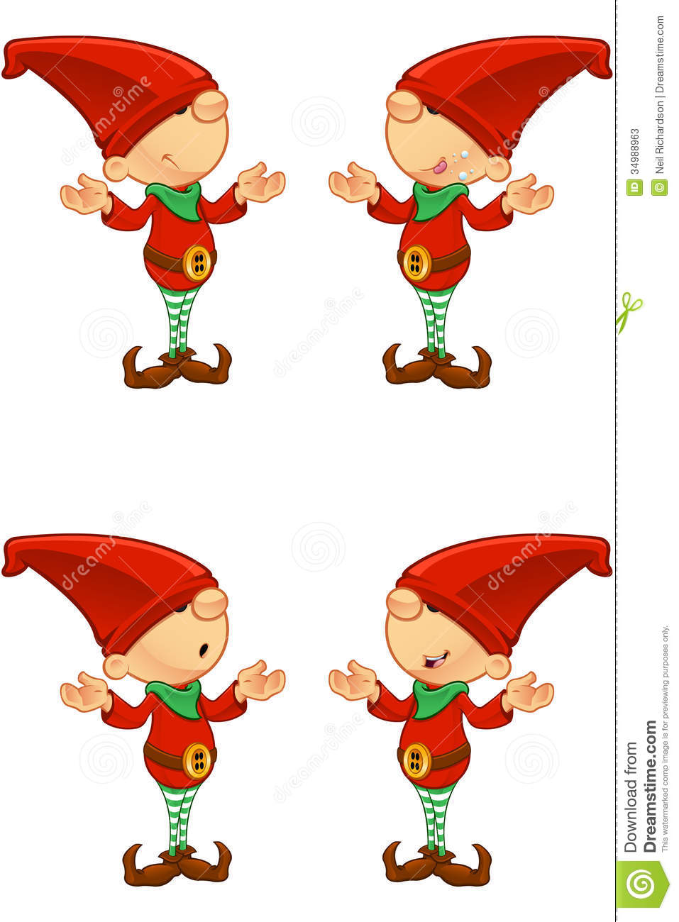 red elf confused stock photos image 34988963