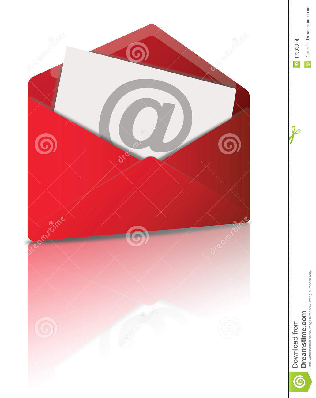 Red Email Symbol Stock Illustration Illustration Of Illustrated