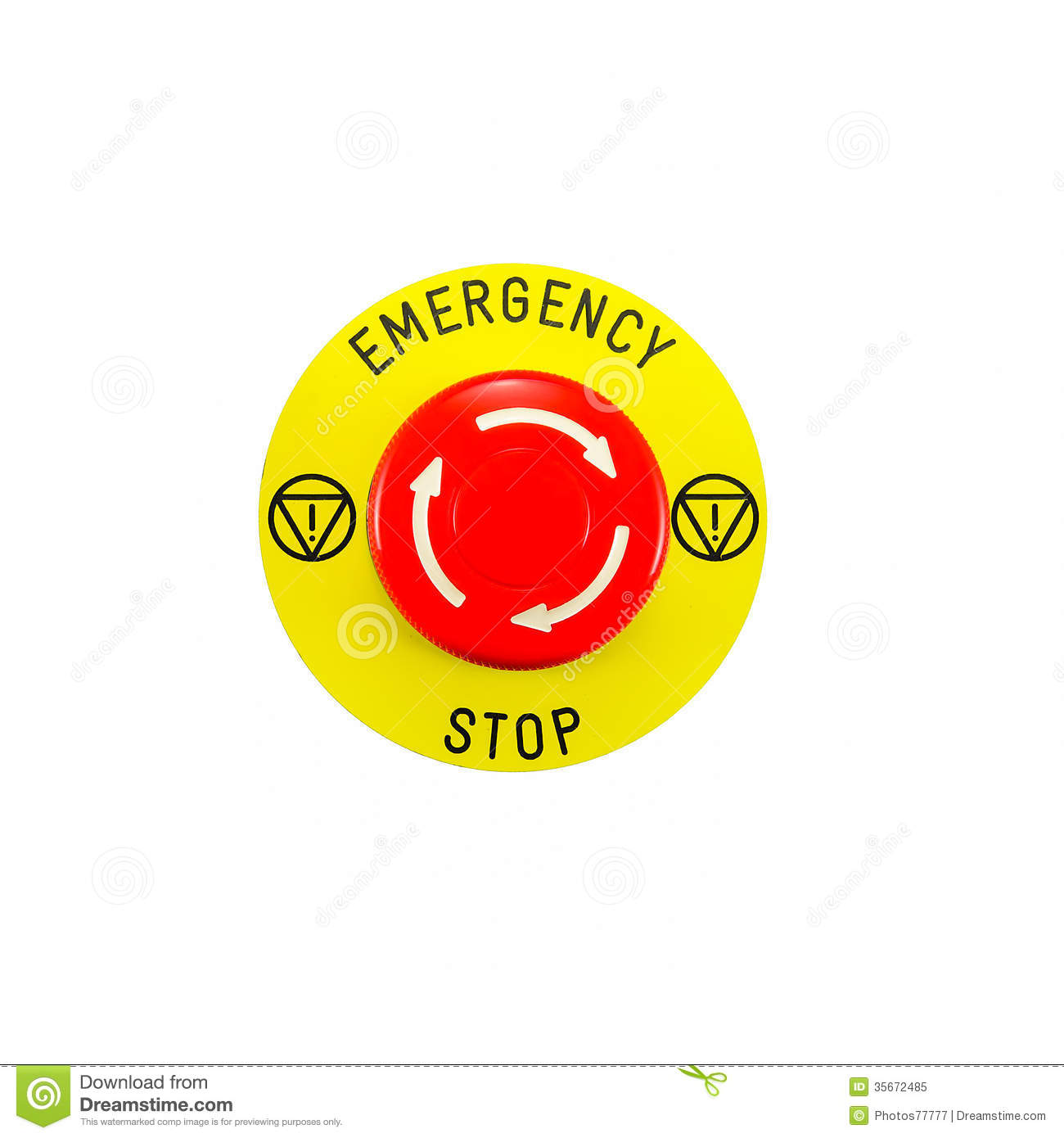 Emergency stop icon clipart emergency off - Background Button Emergency