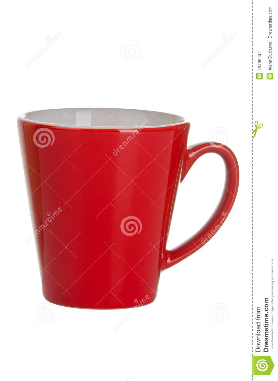 Red Empty Cup Of Tea (coffee) Stock Photography - Image ...