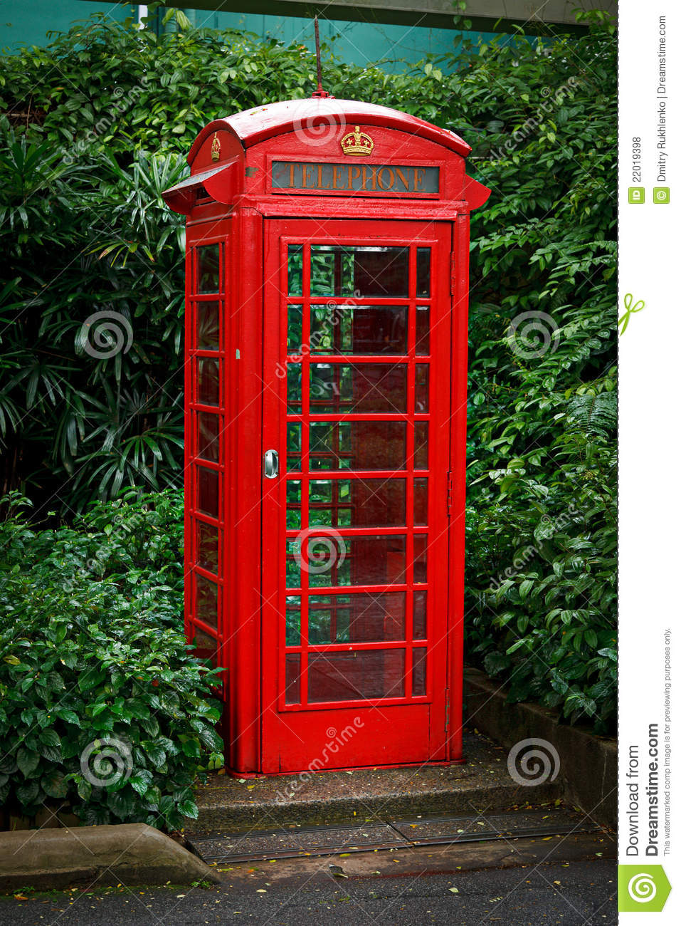 RoyaltyFree RF Telephone Booth Clipart Illustrations