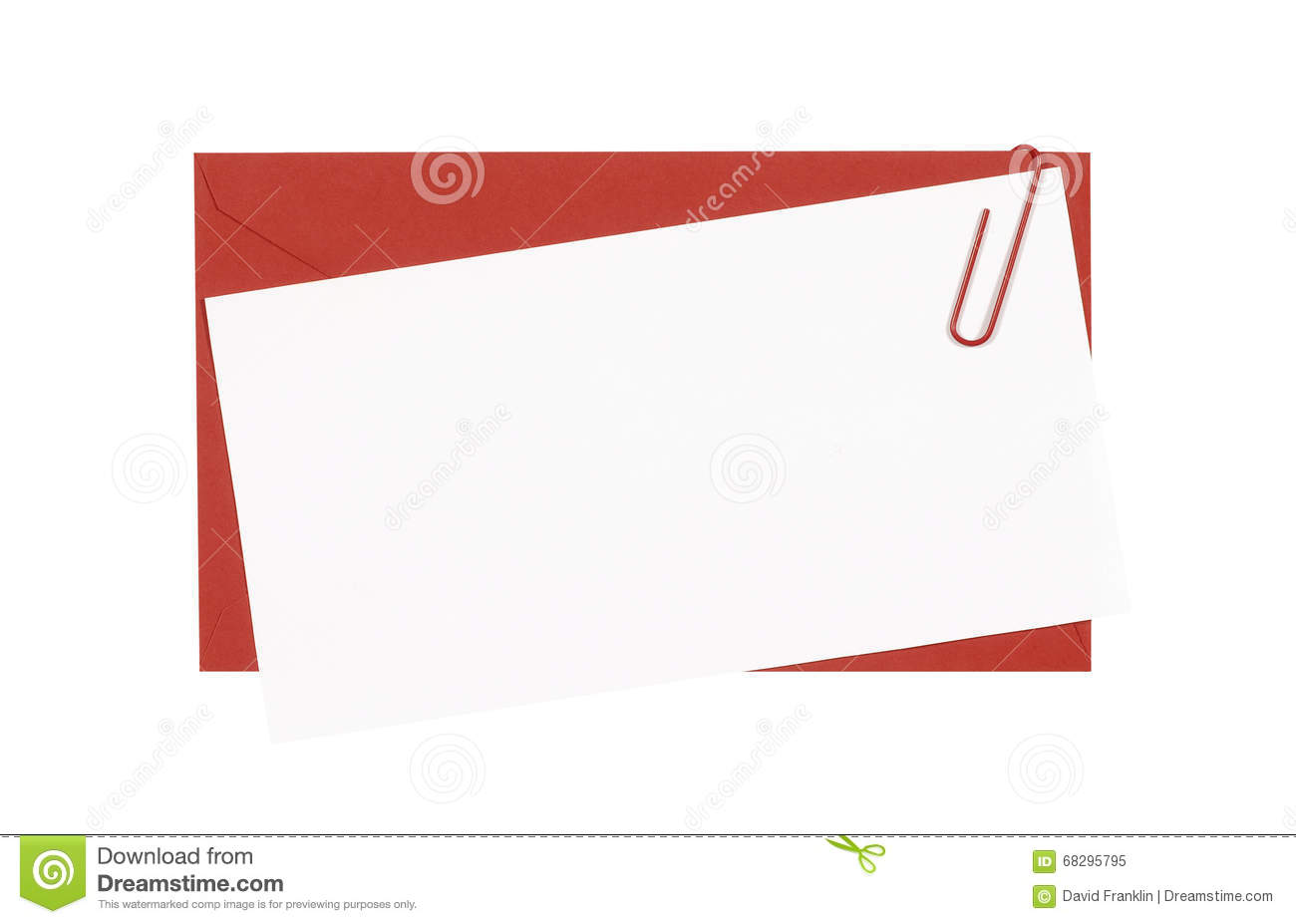 Red envelope with blank birthday invitation or greetings card white download red envelope with blank birthday invitation or greetings card white copy space closeup stopboris Images