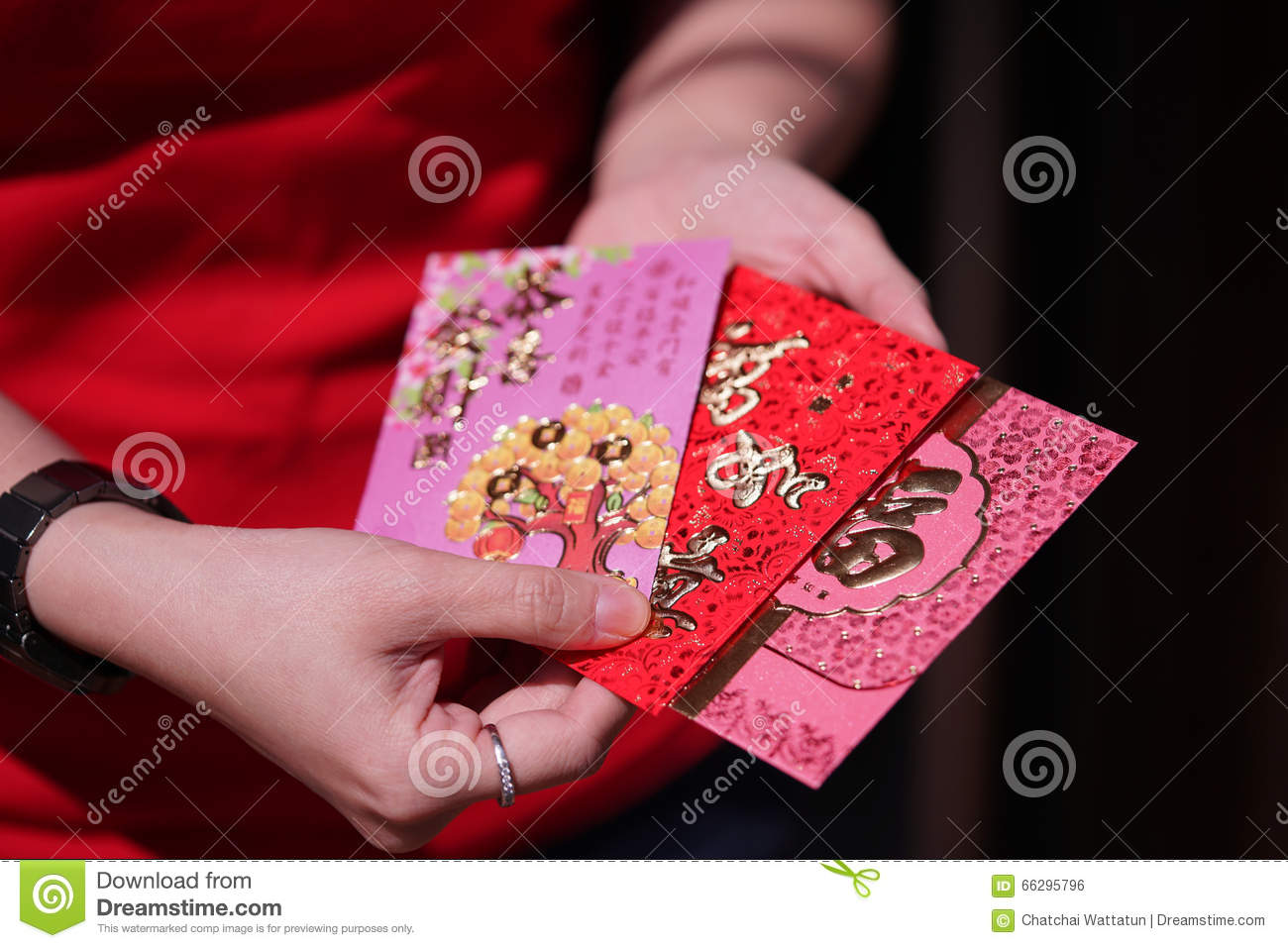 Red Envelope With Blessing Words For Chinese New Year ...