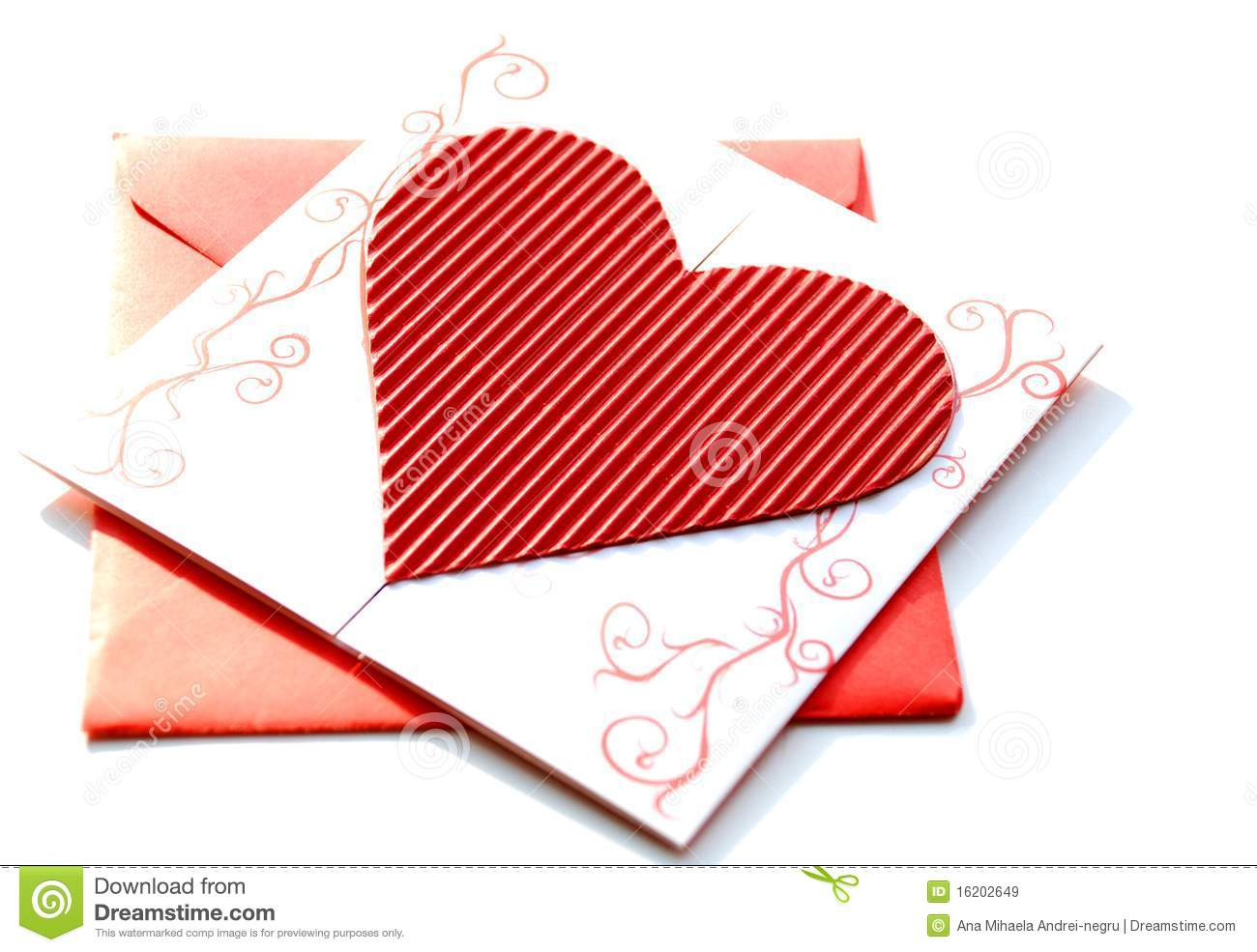 Red Envelope With Wedding Invitation Stock Image - Image of happy ...