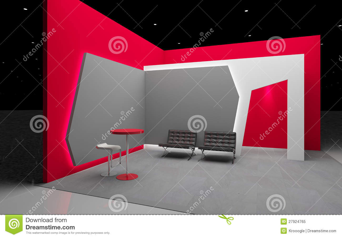 Exhibition Booth Template Free : Red exhibition stand royalty free stock photo image
